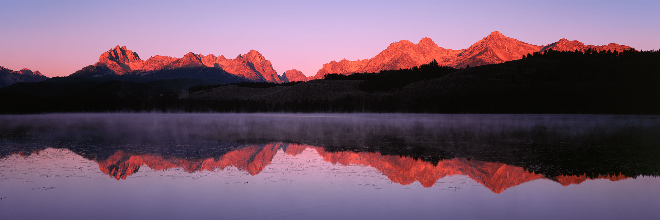 Sawtooth Mountains dawn panorama